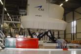 Hydraulic contruction flight simulator